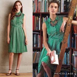 Anthro 11.1.TYLHO Brynn Shirtdress Polka Dot Dress